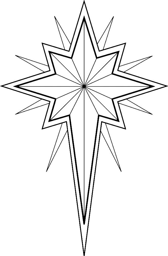 Раскраска звезда на елку