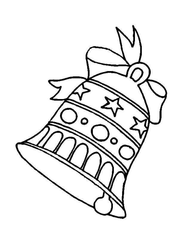 Раскраска новогодний колокольчик