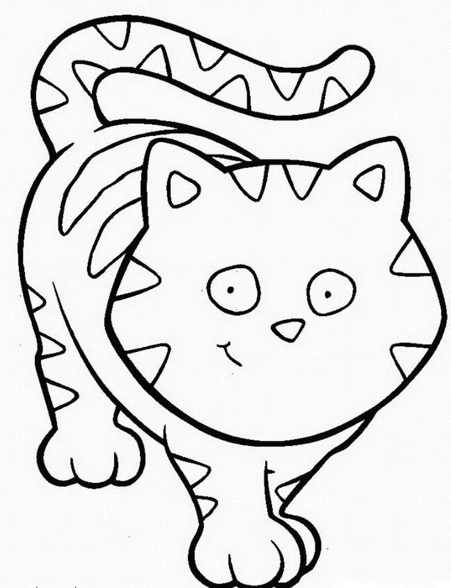 Раскраска большая кошка