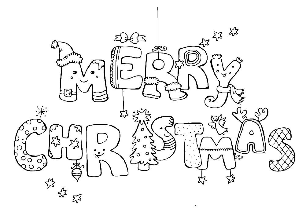 Раскраска Merry Christmas