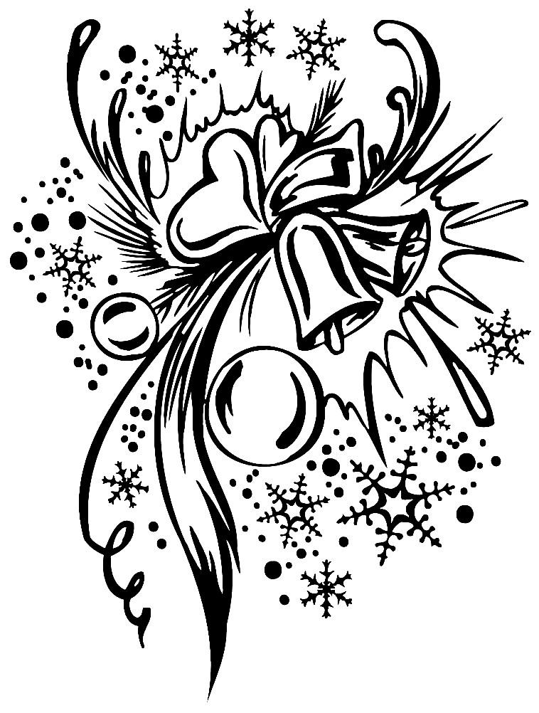 Раскраска Рождественский узор