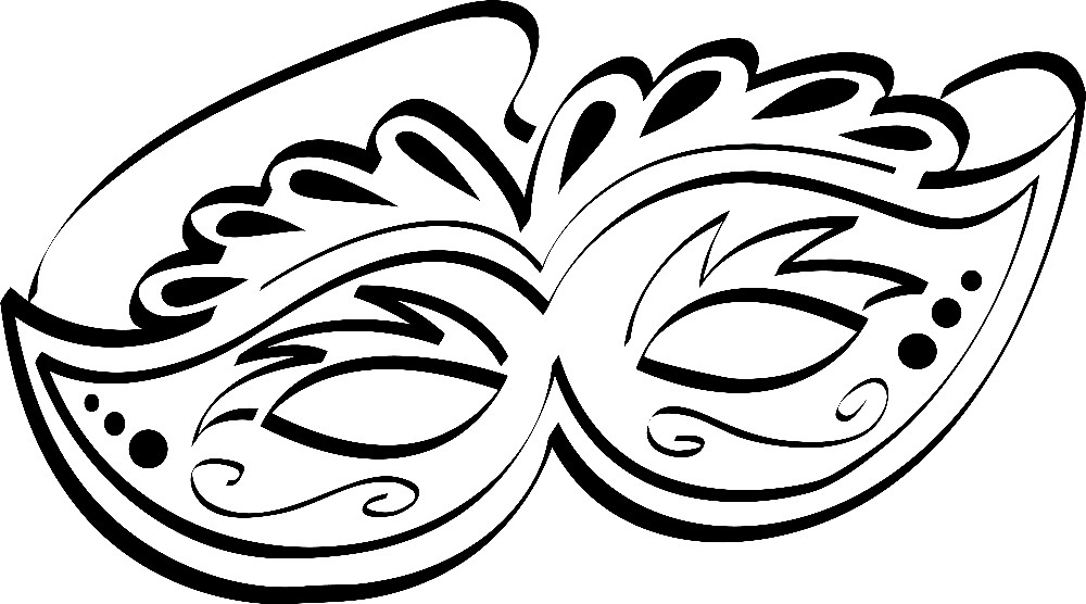 Раскраска маска на карнавал