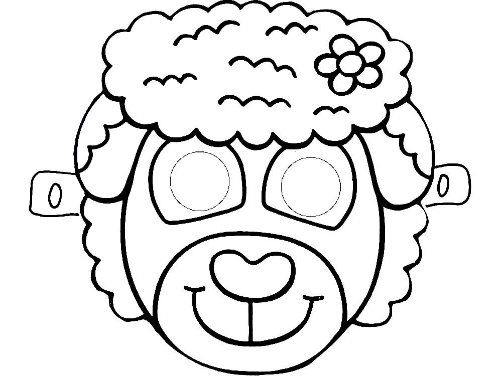 Раскраска маска барашка