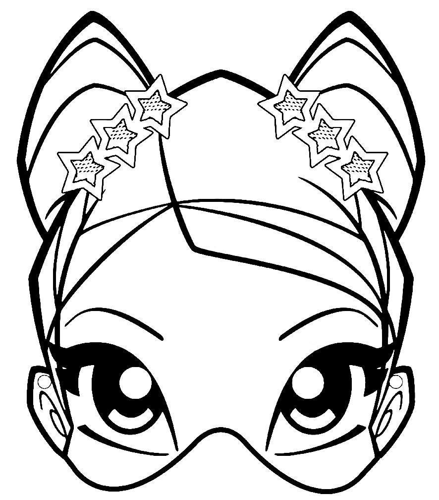 Раскраска маска для девочек