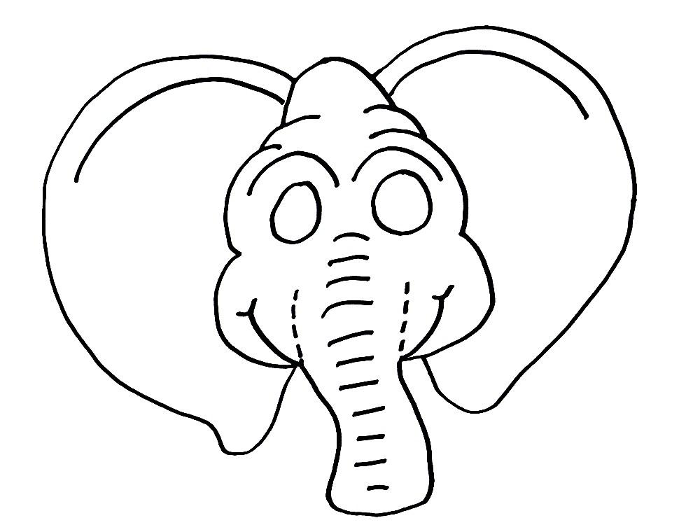 Раскраска маска слона