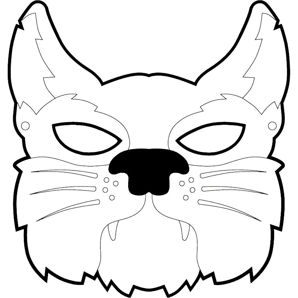 Раскраска маска cat
