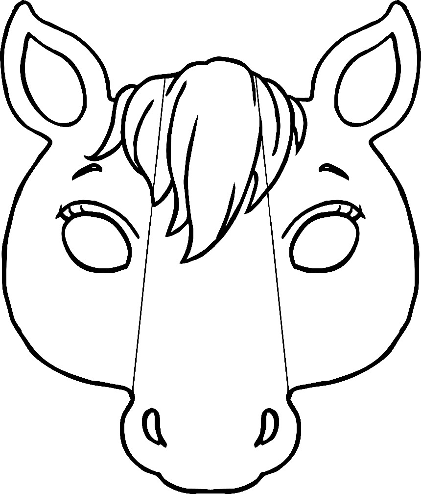 Раскраска маска лошадь