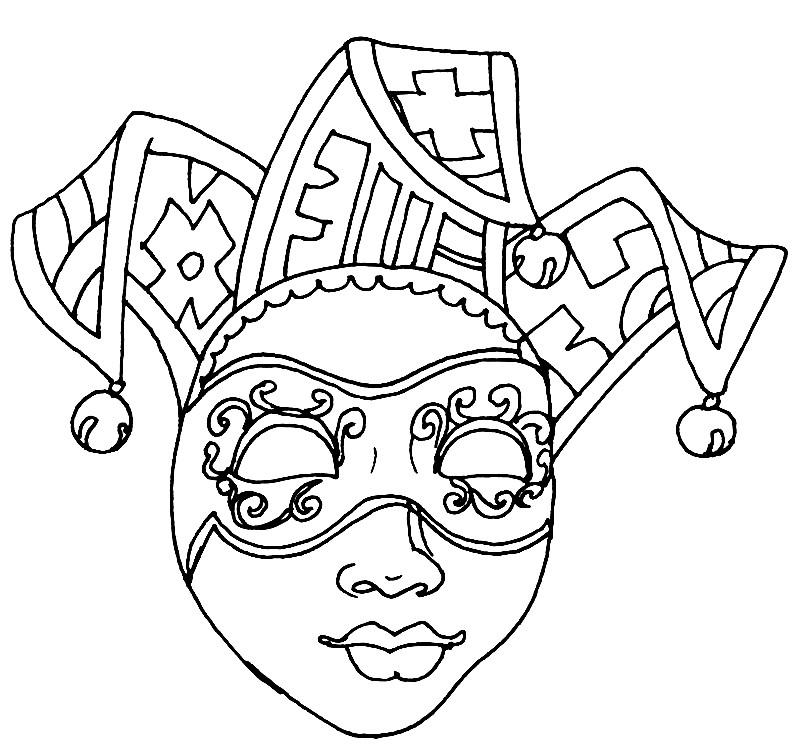 Раскраска маска шута