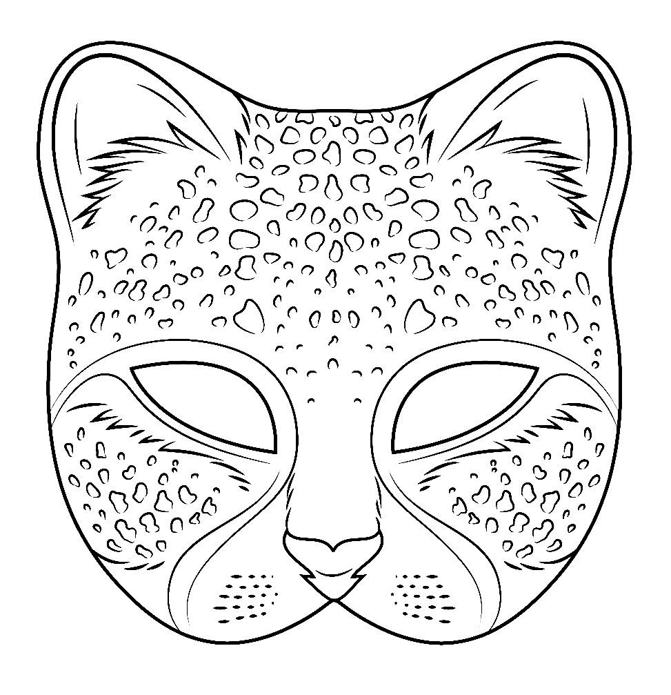Раскраска маска ягуар