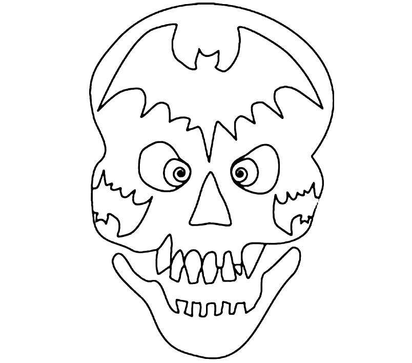 Раскраска маска череп