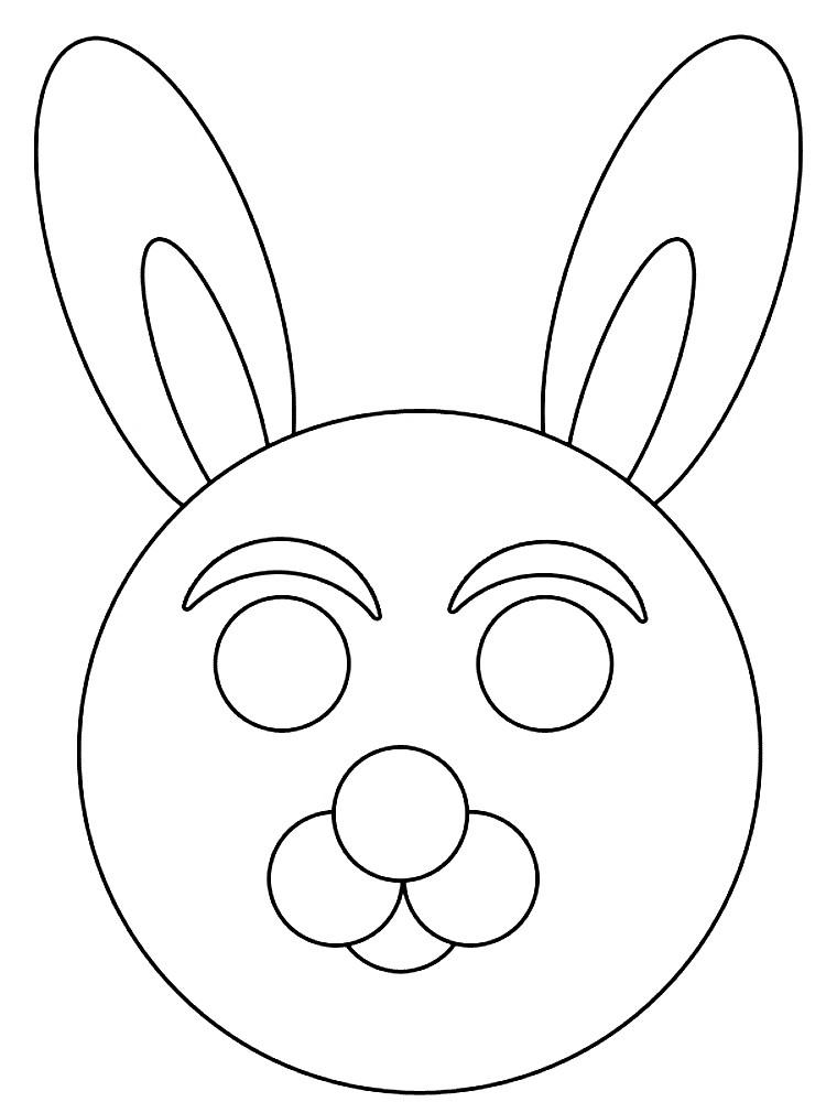 Раскраска маска коалы