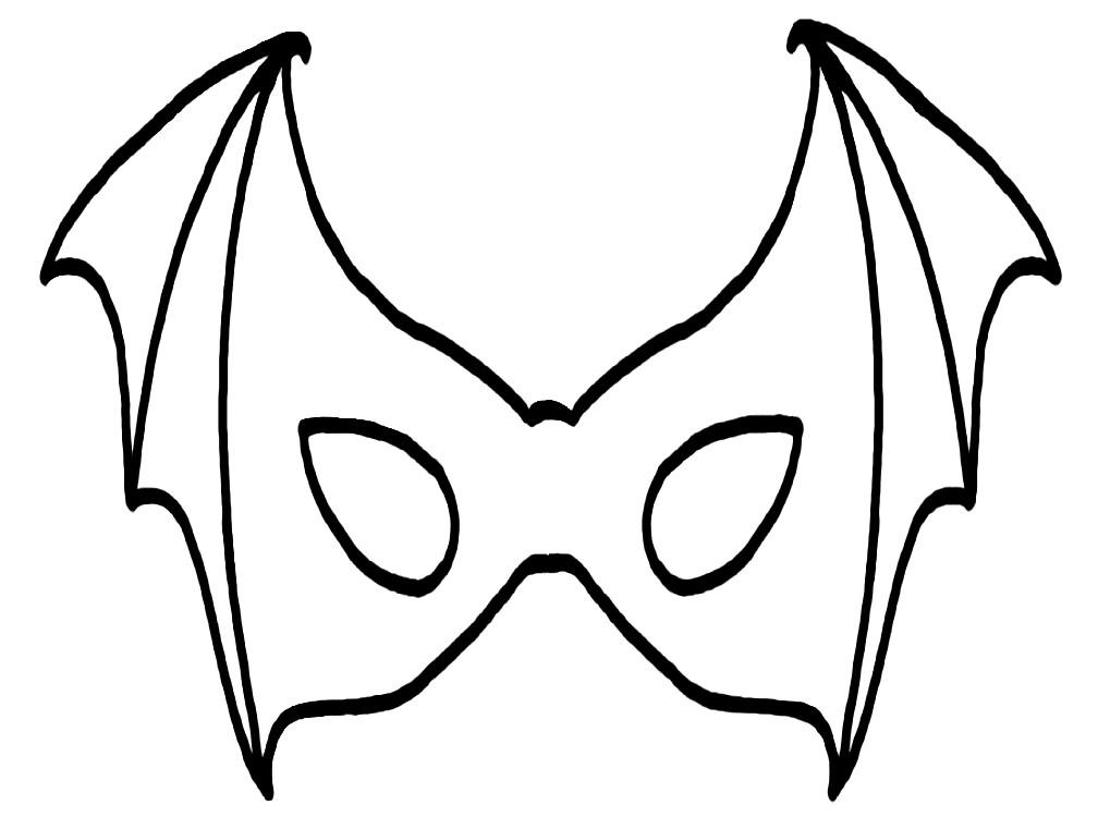 Раскраска маска летучая мышь