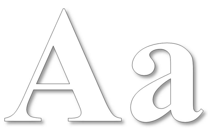 Раскраска буква А