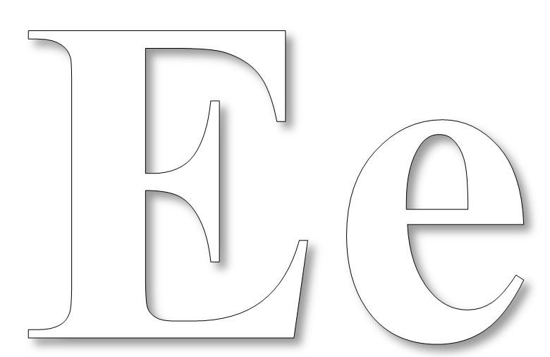 Раскраска буква Е