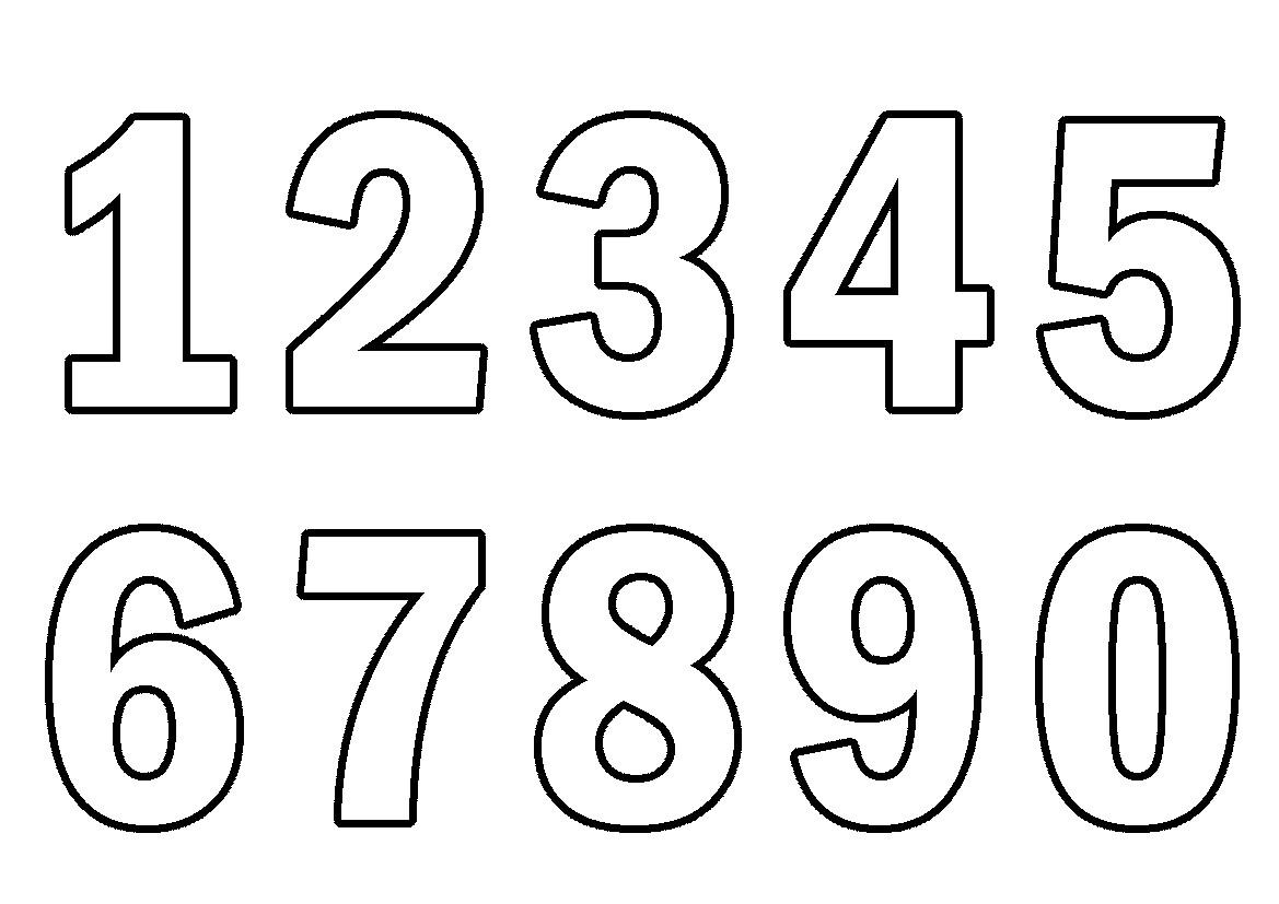 Раскраска цифры от 0 до 9