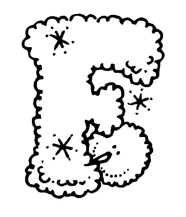 Раскраска буква F английского алфавита