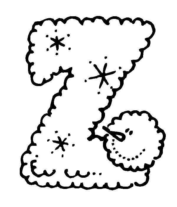 Раскраска буква Z английского алфавита