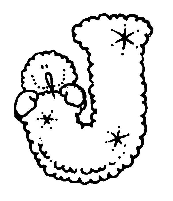 Раскраска буква J английского алфавита
