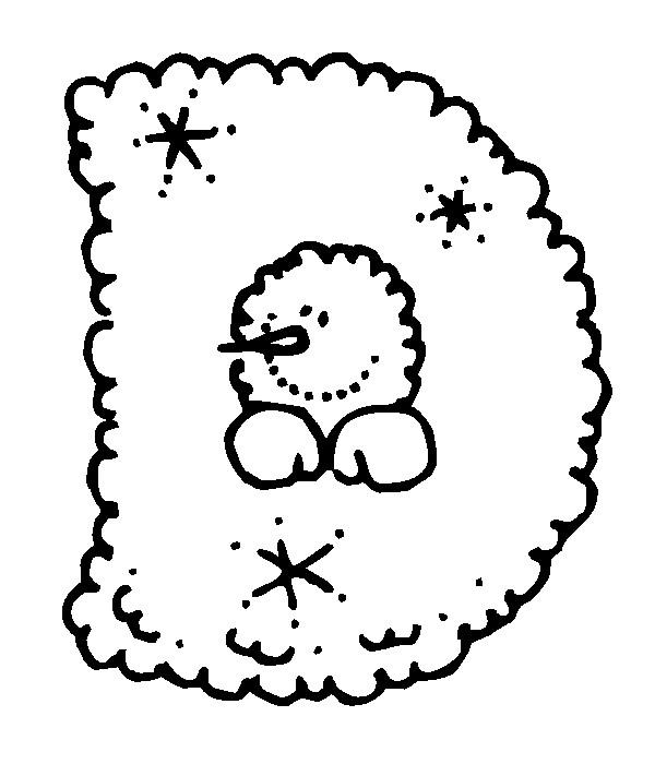 Раскраска буква D английского алфавита