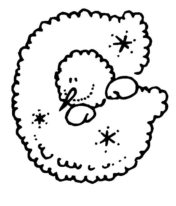 Раскраска буква G английского алфавита