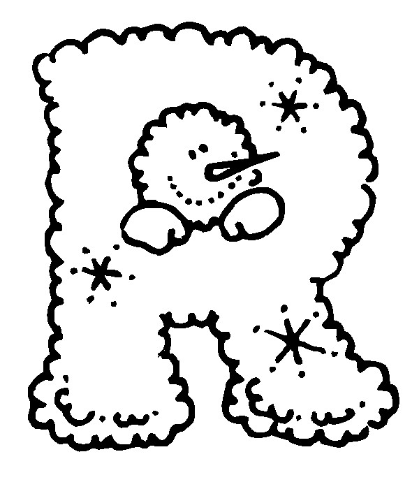 Раскраска буква R английского алфавита
