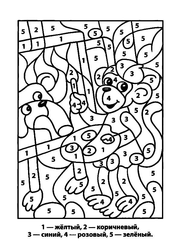 Раскраска рисунок по цифрам