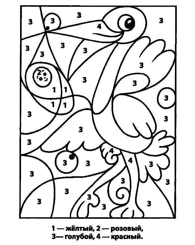 Раскраска рисунок по номерам