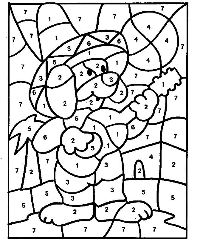 ПО ТОЧКАМ И ЦИФРАМ | Раскраски для детей распечатать ...