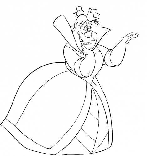 раскраска королева червей раскраски для детей распечатать