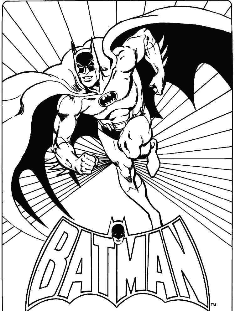 Супер Герой Бэтмен раскраска