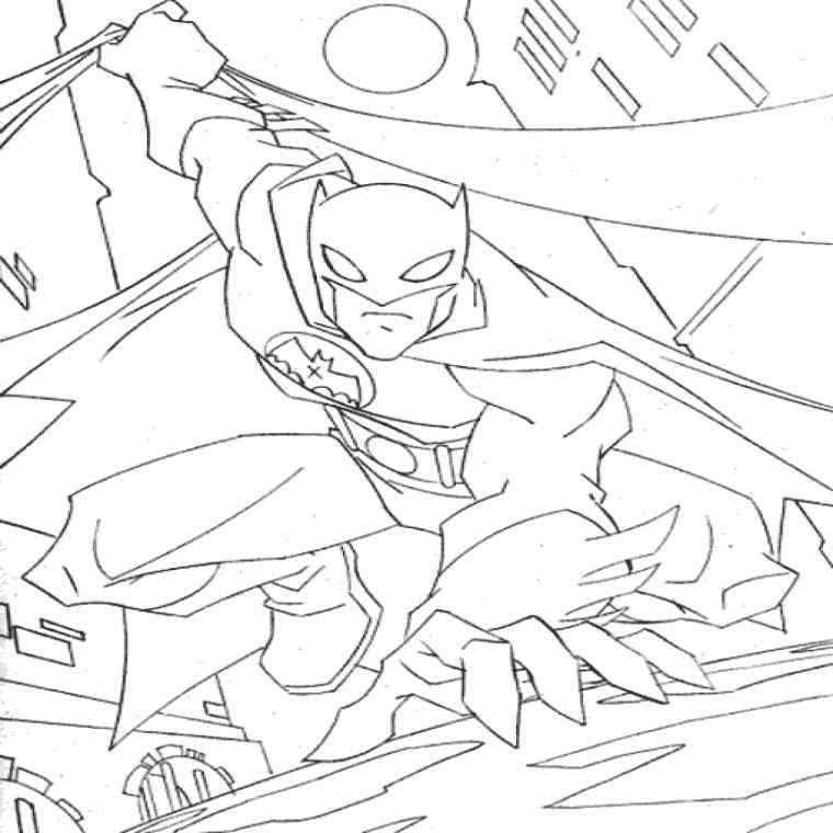 Раскраска Бэтмен 2004