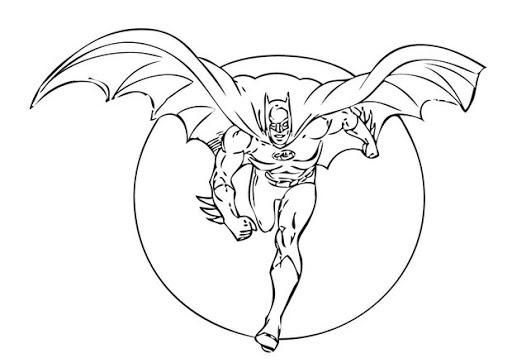 Раскраска Бэтмен Бежит