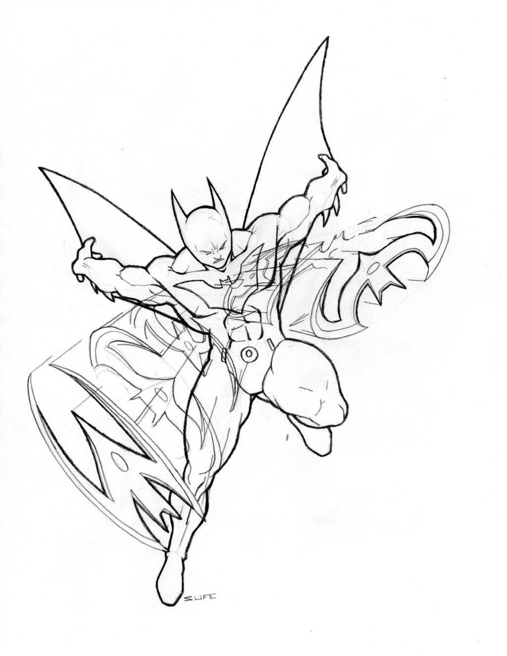 Раскраска Бэтмен Будущего
