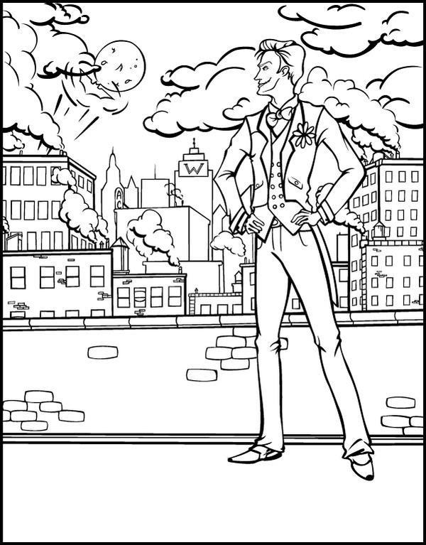 Джокер суперзлодей раскраска