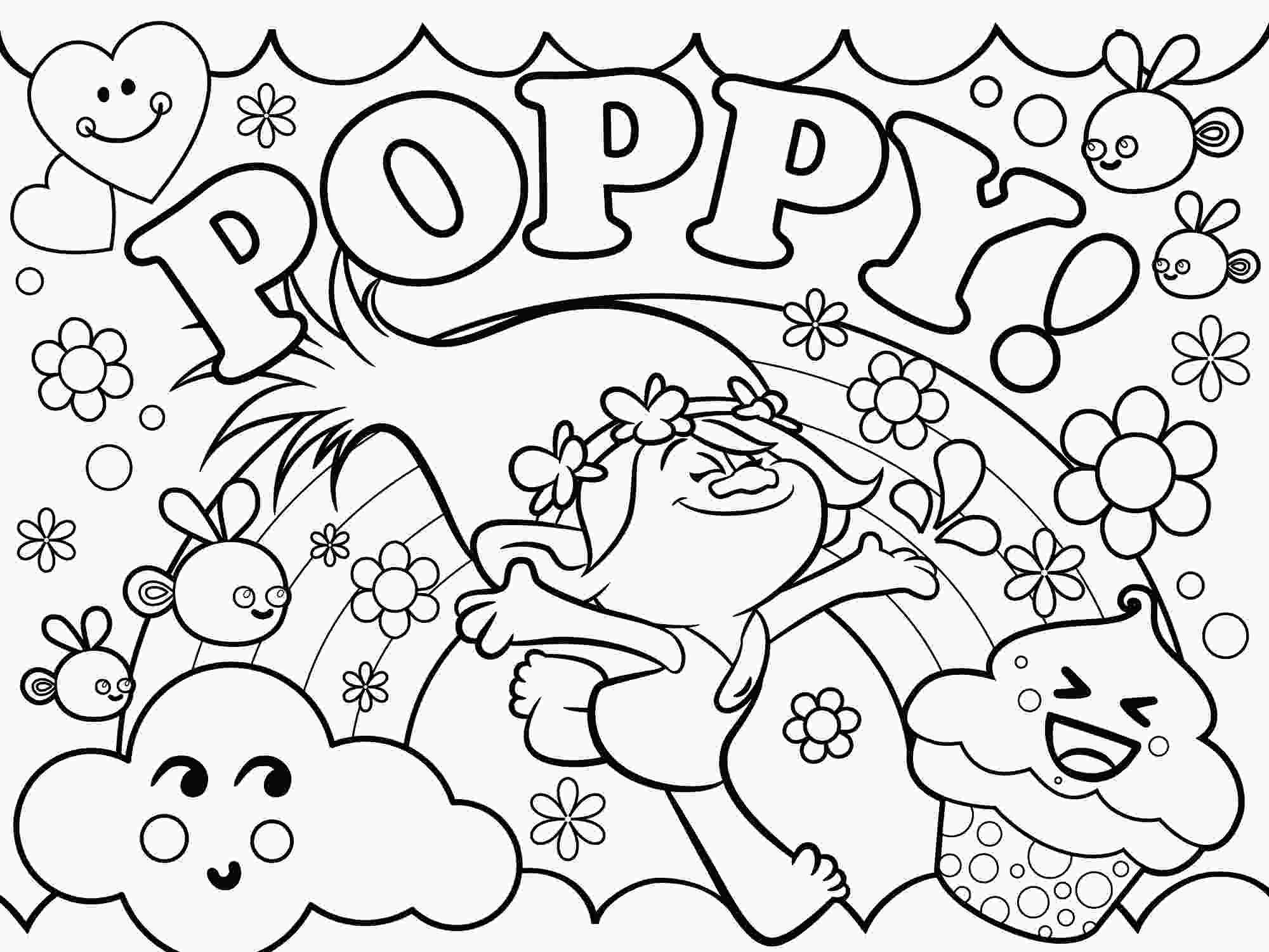 Раскраска Розочка принцесса из мультфильма Тролли