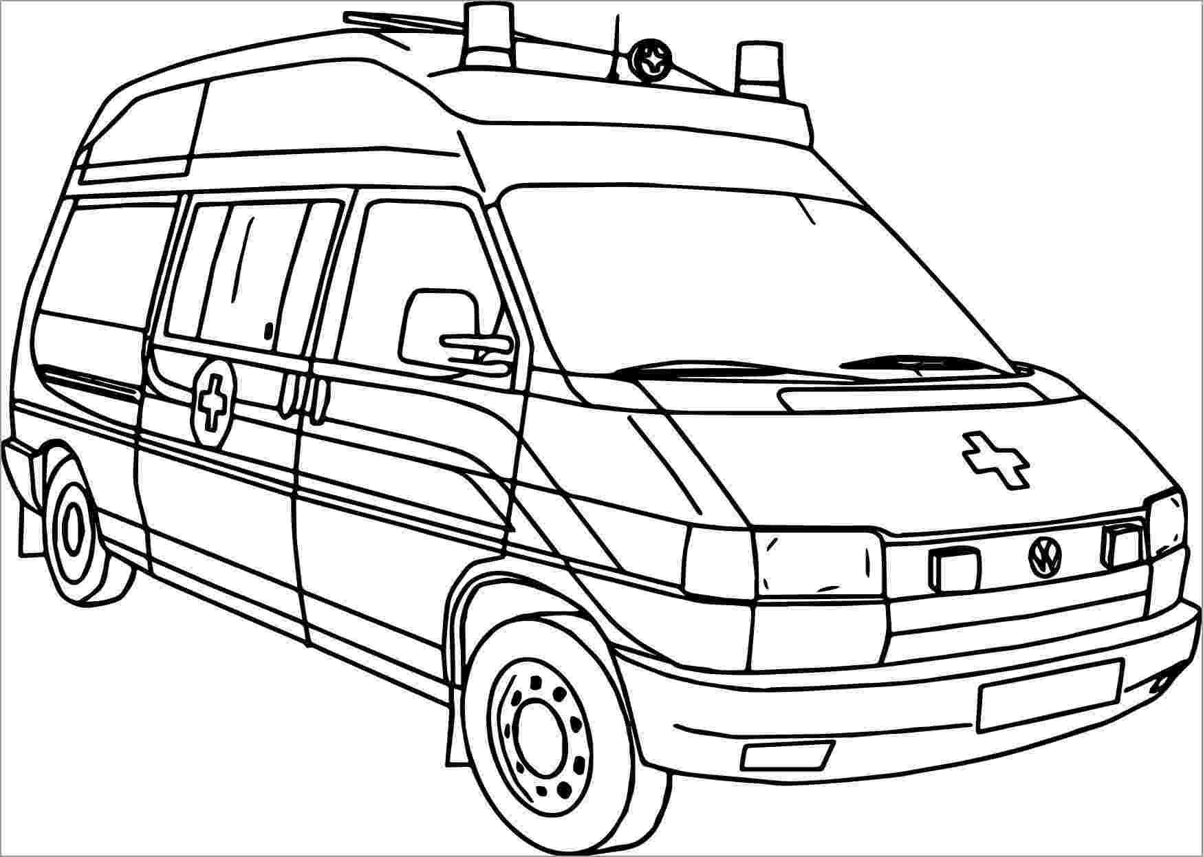 Раскраска Китайская машина скорой помощи