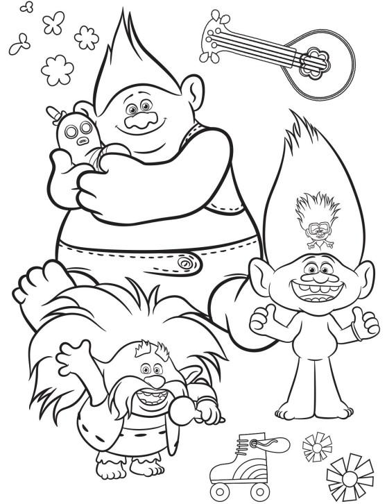 Раскраска Здоровяк и мистер Динклс и Розовый Король