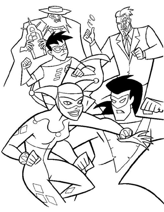 Рскраска супергерои и суперзлодеиа