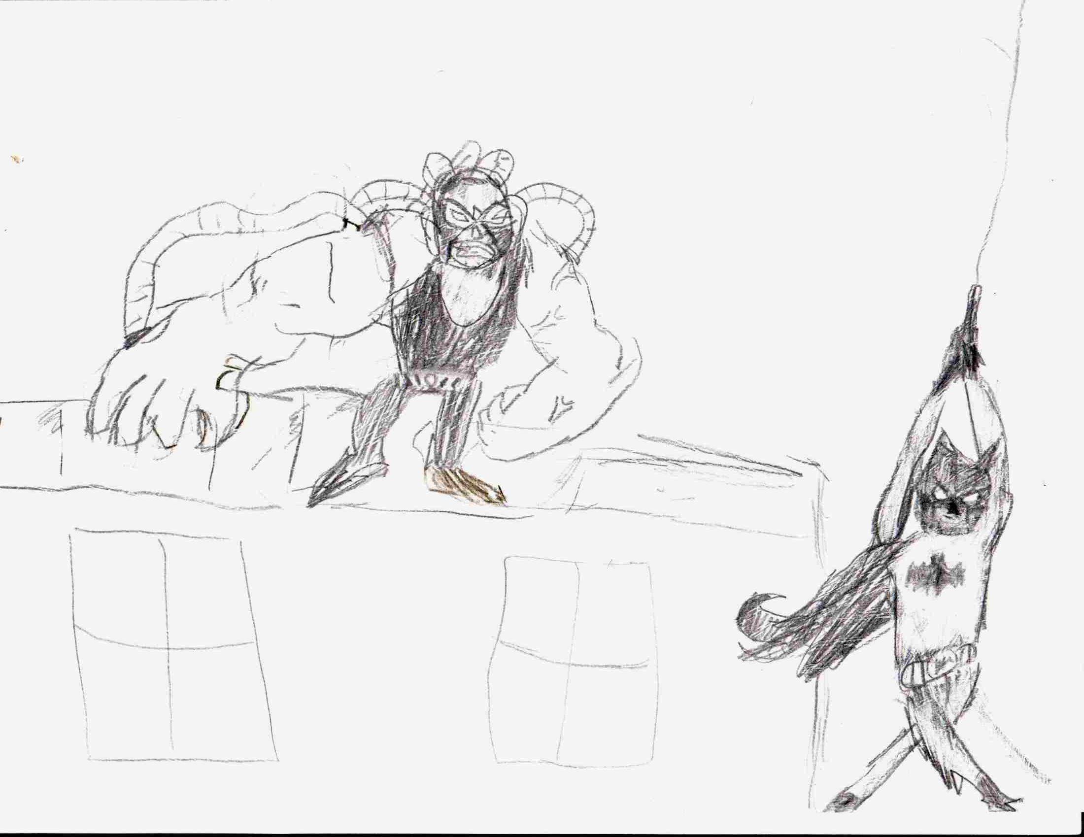 Бэйн из Batman: ARKHAM KNIGHT нарисовал Даня
