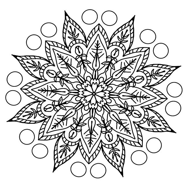 Раскраска мандала цветок