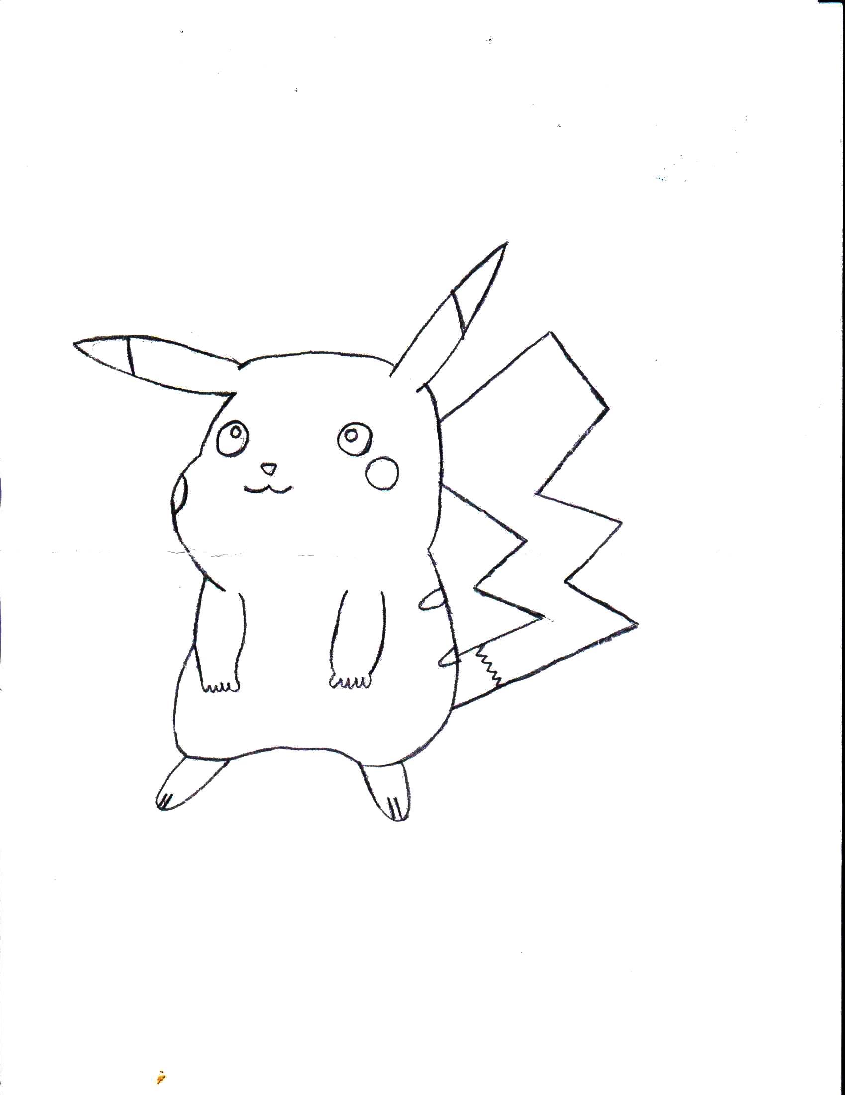 Раскраска Покемон Пикачу