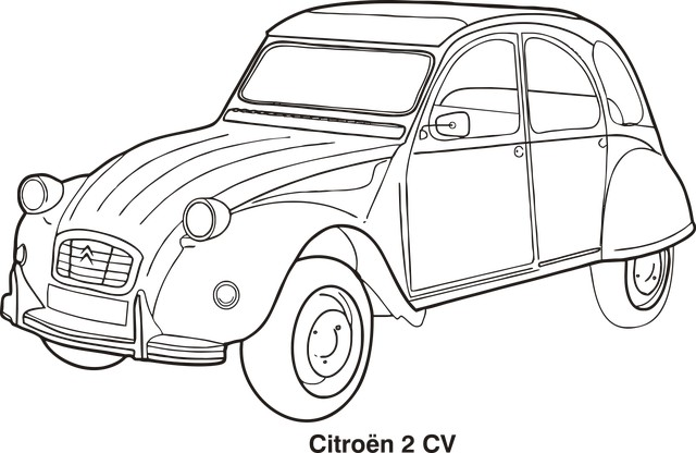 Раскраска машина Citroen