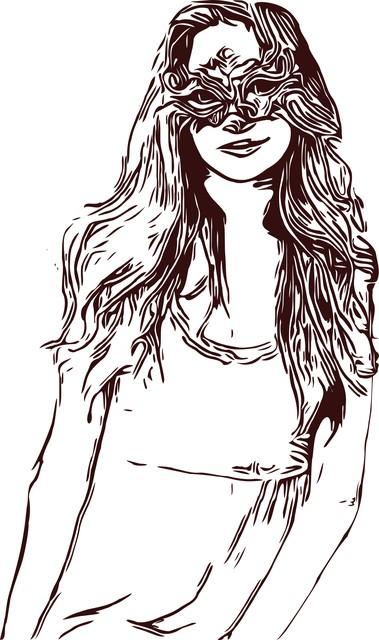 Раскраска красивая девушка